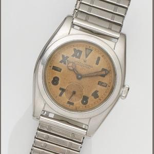 Rolex. An unusual stainless steel automatic bracelet watch with California dial Oyster Perpetual, Ref:2764, Case No.183***, Circa 1953