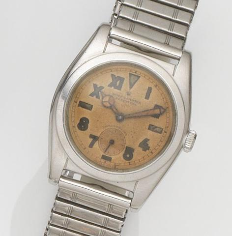 Rolex. An unusual stainless steel automatic bracelet watch with California dialOyster Perpetual, Ref:2764, Case No.183***, Circa 1953