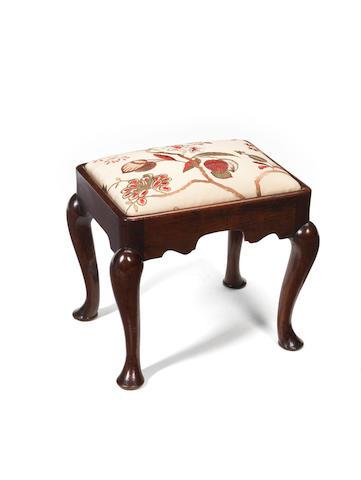 Mahogany foot stool