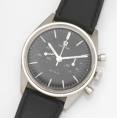 Omega. A stainless steel manual wind chronograph wristwatch De Ville, Ref:145.017, Movement No.27712457, Circa 1960