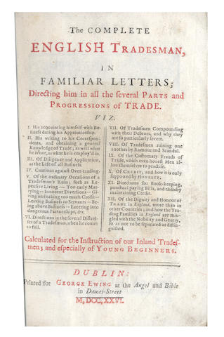 DEFOE (DANIEL)] The complete  English Tradesman, 1726; and others (5)