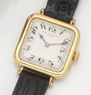 Patek Philippe. An 18ct gold manual wind wristwatch Case No.284390, Movement No.176684, Circa 1920