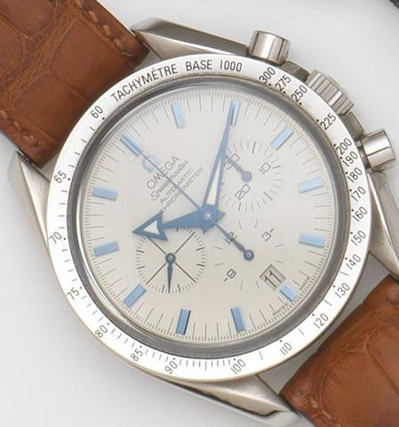 Omega. A stainless steel automatic calendar chronograph wristwatch Speedmaster Automatic Broad Arrow, Ref:3851.20.12, Case and Movement No.78003558, Sold 4th January 2005