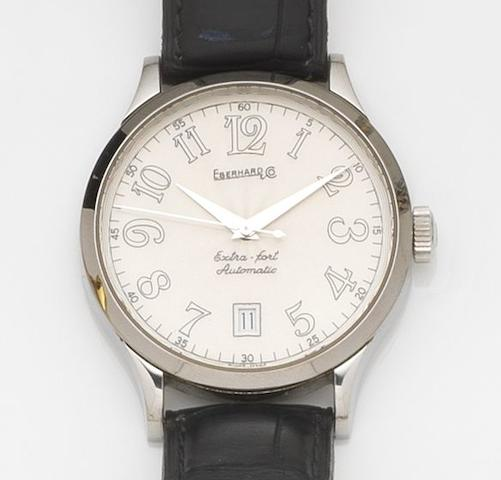 Eberhard & Co. A stainless steel automatic calendar wristwatchExtra-Fort, Ref:41018, Case No.1866, Circa 2000