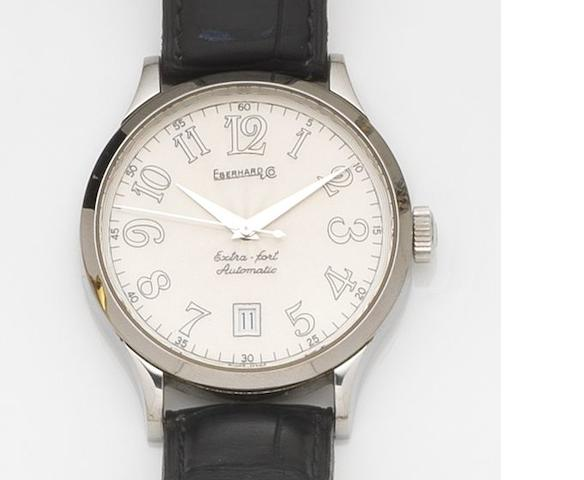 Eberhard & Co. A stainless steel automatic calendar wristwatch Extra-Fort, Ref:41018, Case No.1866, Circa 2000
