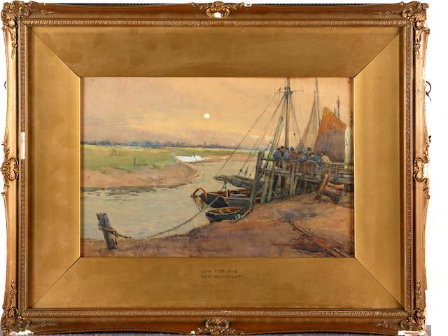William Kay Blacklock (British, exh 1897-1921) 'Low Tide, Rye'