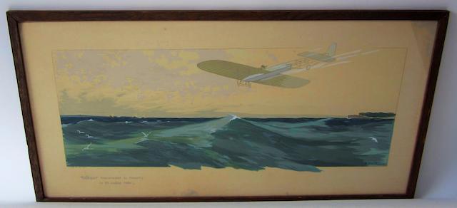 Ernest Montaut (1879-1909): 'Bleriot traversant la Manche',