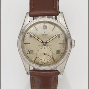 Rolex. A stainless steel manual wind wristwatch Oyster, Ref:4499, Case No.398***, Circa 1946