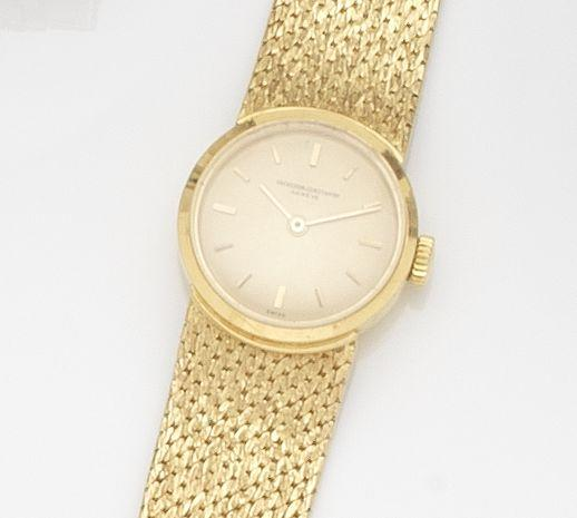 Vacheron Constantin. A lady's 18ct gold manual wind bracelet watch Ref:6633, Case No.421746, Movement No.602300, Circa 1960