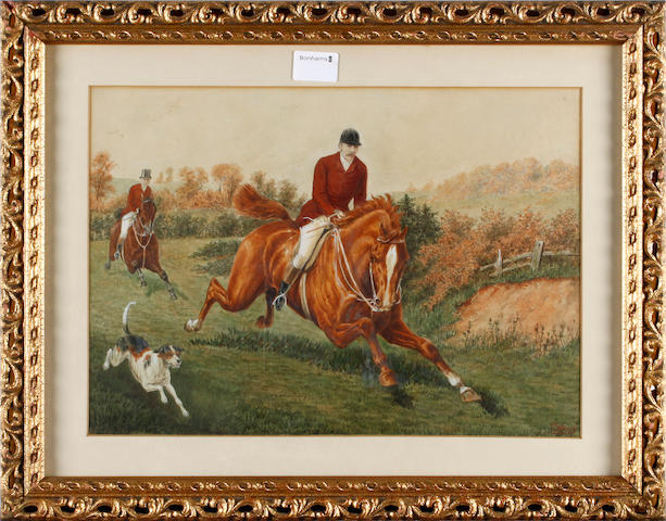 C. A. Fesche (late 19th/early 20th Century) A pair of hunting scenes