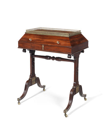 A Regency mahogany writing table