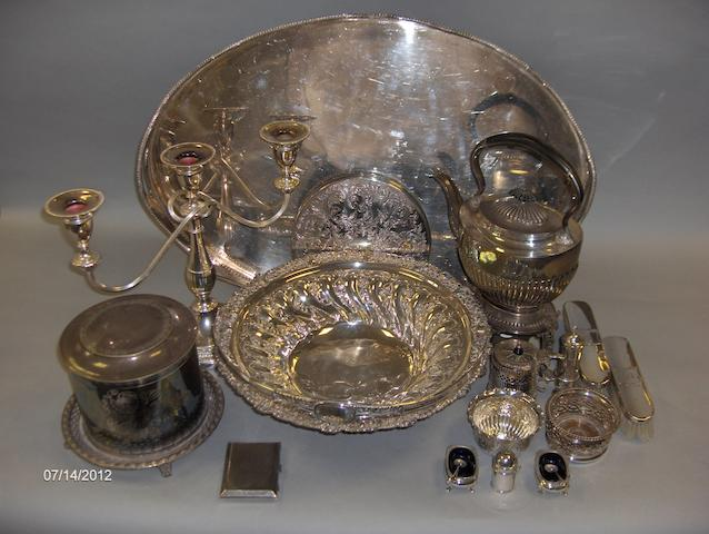 A quantity of EP table wares and small modern silver