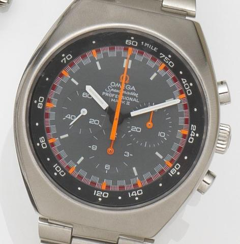Omega. A stainless steel manual wind chronograph bracelet watchSpeedmaster Professional Mark II, Ref:145.014, Movement No.29606890, Circa 1970