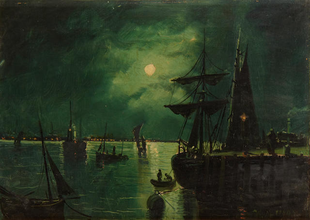 Walter Linsley Meegan (British, 1859-1944) Moonlit scenes