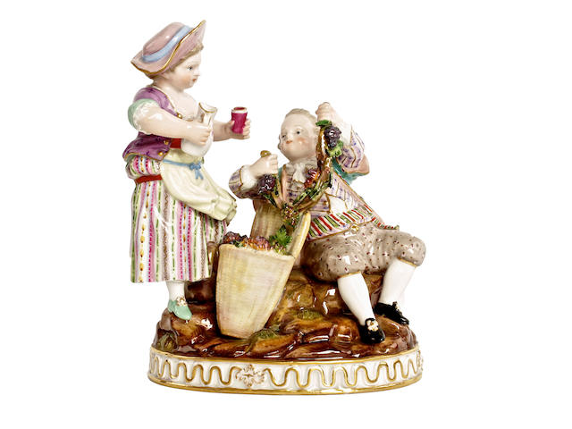 A Meissen figure group, circa 1860-80