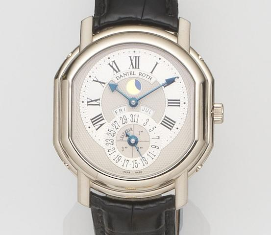 Daniel Roth. An 18ct white gold automatic perpetual calendar wristwatch  Ref:118.X.60, Case No.62, Recent