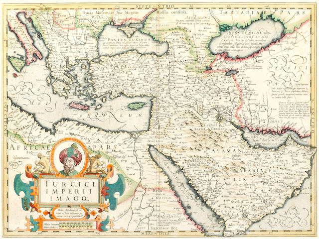 MIDDLE EAST [MERCATOR (GERARD)] Turcici imperii imago, [1609, or later]