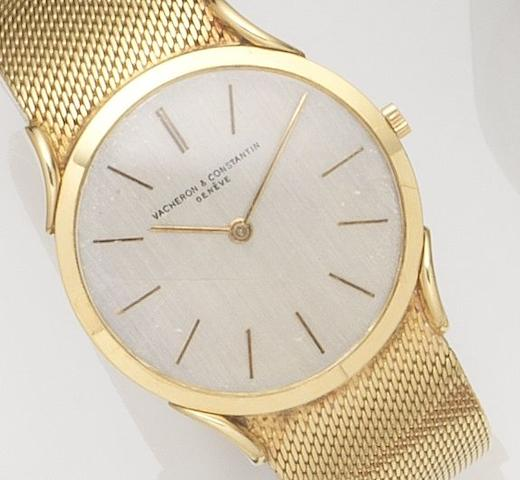 Vacheron & Constantin. An 18ct gold manual wind bracelet watch with ultra thin case Circa 1960