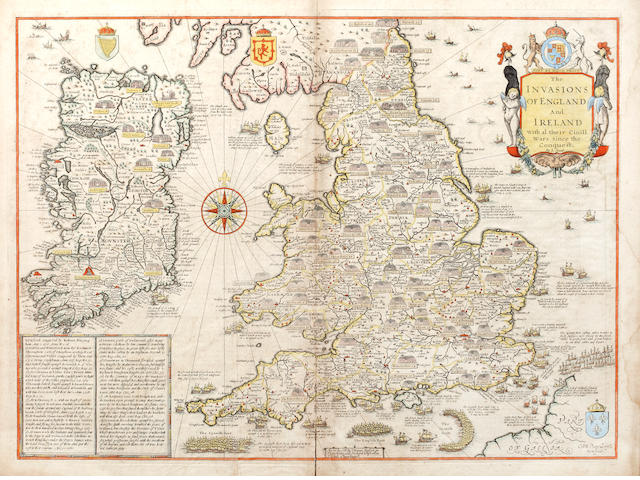 ENGLAND AND IRELAND SPEED (JOHN), The Invasions of England and Ireland with al their Civil Wars since the Conquest