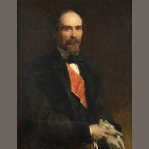 Portait of Marshall Ramon Cabrera Marques Del Ter oil on board