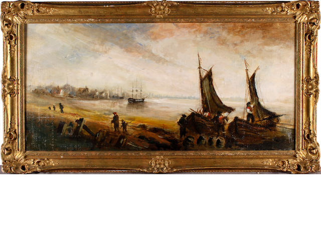 English School, 19th Century Estuary scene