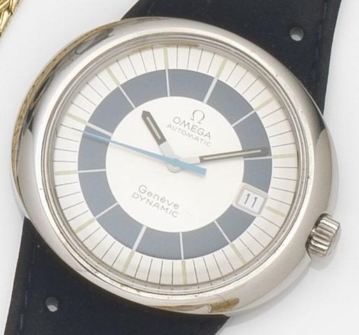 Omega. A stainless steel automatic wristwatchDynamic, Circa 1970