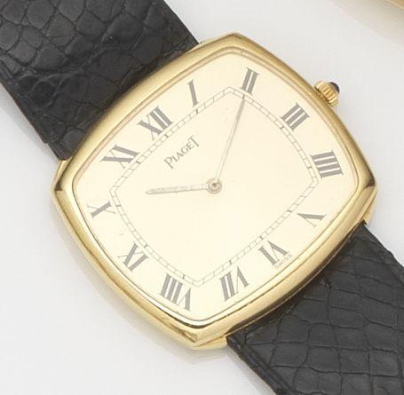Piaget. An 18ct gold rectangular manual wind wristwatch Ref:9731, Case No.225739, Movement No.736211, Circa 1970