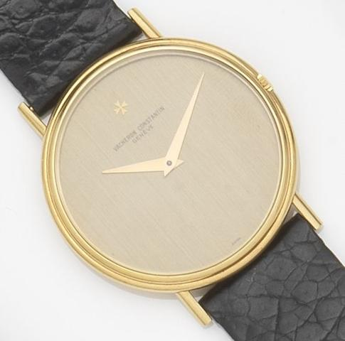 Vacheron Constatin. An 18ct gold manual wind wristwatchCase No.515012, Circa 1970