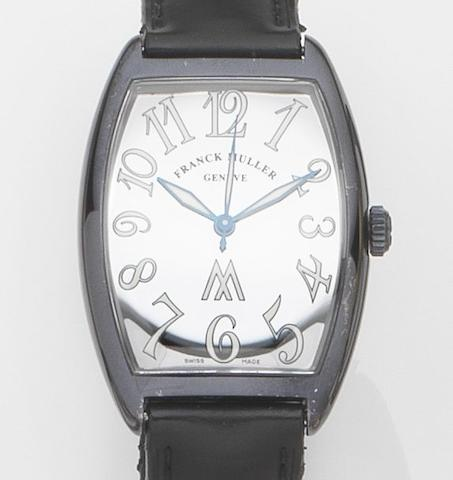 Franck Muller. A DLC coated stainless steel automatic wristwatch Marcus, Ref:2852 SC, Case No.3, Circa 2000
