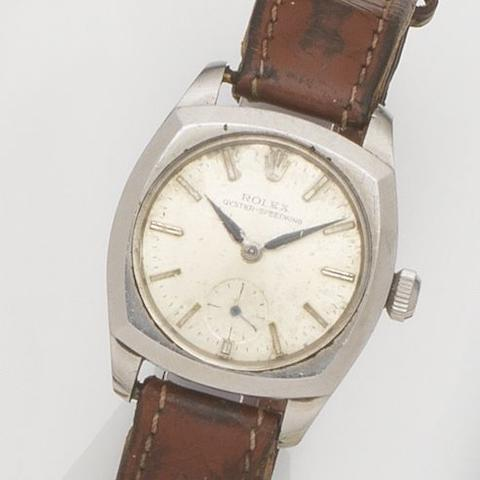 Rolex. A stainless steel manual wind wristwatch Oyster-Speedking, Ref:3139, Case No.105***, Circa 1940