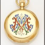 U. Montandon-Robert. An 18ct gold open face keyless wind pocket watch Case and Movement No.1056, Circa 1890