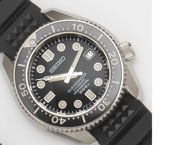 Seiko. A stainless steel automatic calendar wristwatch Marinemaster Automatic Professional 300m, Ref:8L35-0010, Case No.280018, 2000's
