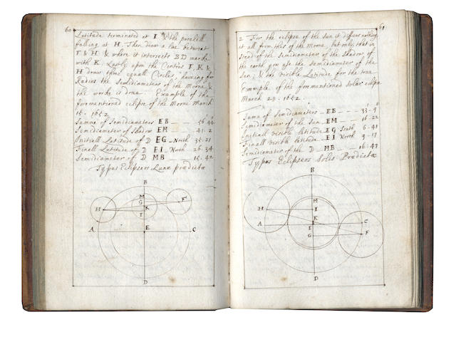 "ASTRONOMY and CHEMISTRY – TOWNELEY CIRCLE. Two volumes, comprising chemical notes in Latin, ""Collegium Chymicum"" and an astronomical handbook, seventeenth century (2)"