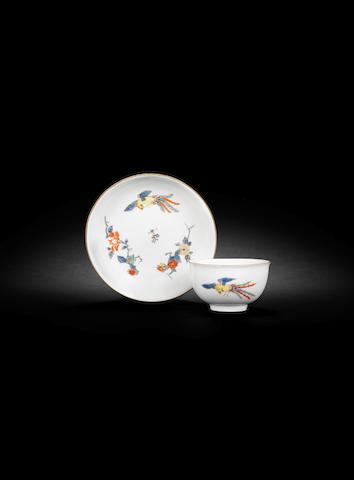 A Meissen teabowl and saucer, circa 1740