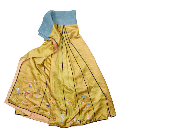 A lime-green silk, summer skirt 20th century