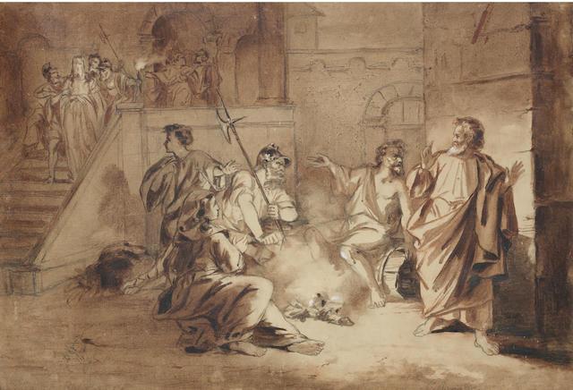 Valerian Stepanovich Kryukov (Russian, born 1838) The Taking of Christ