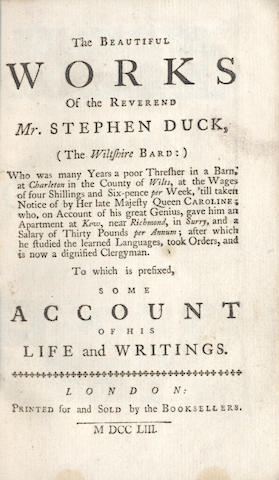 DUCK (STEPHEN) The Beautiful Works, 1734; and 4 others (5)