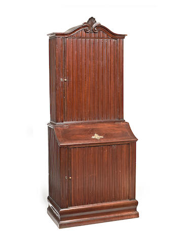 A German 19th Century stained beech two-tier cabinet,