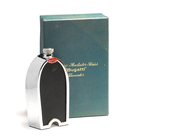 A Bugatti radiator decanter by Ruddspeed Ltd, British, 1950s,