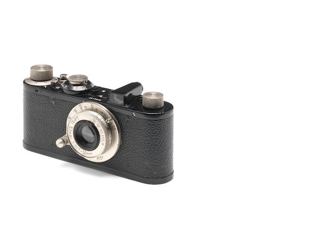 Leica 1 black paint 50407 leather case