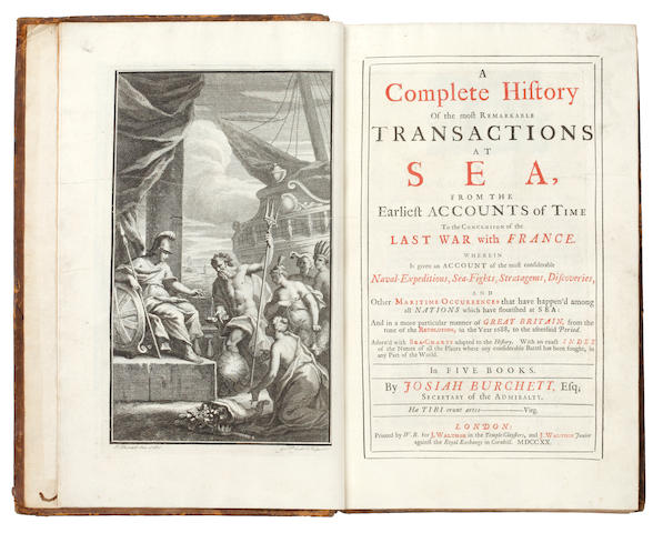 BURCHETT (JOSIAH) A Complete History of the Most Remarkable Transactions at Sea, 1720