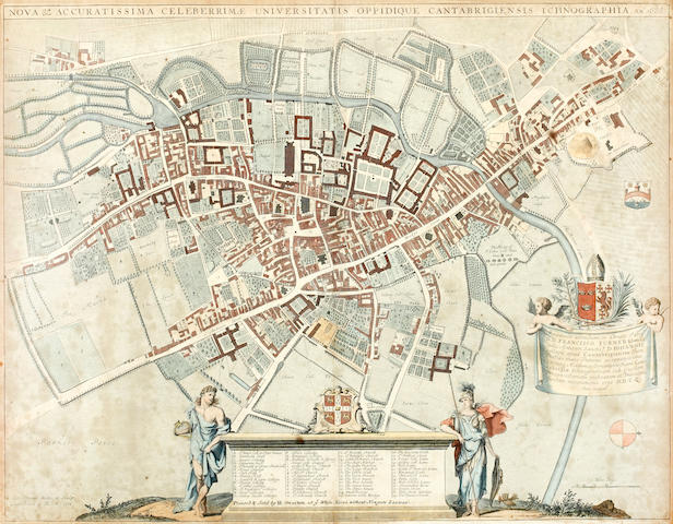 CAMBRIDGE LOGGAN (DAVID) Nova & Accuratissima celeberrimae universitatis oppidique Cantabrigiensis ichonographia, Ano. 1688