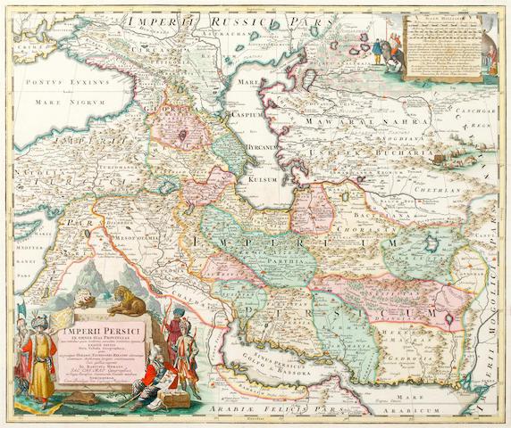 PERSIA HOMANN (JOHANN BAPTIST) Imperii Persici, [c.1705]