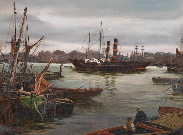 Charles Napier Hemy, RA RWS (British, 1841-1917) On the Tyne