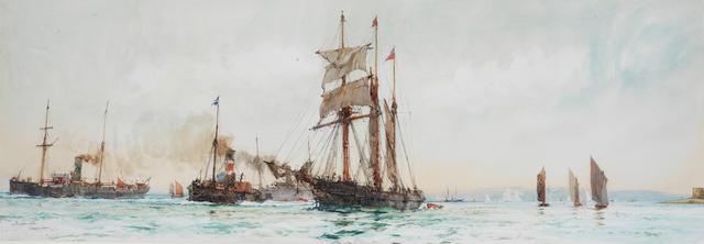 Charles Edward Dixon (British, 1872-1934) 'Southampton water'