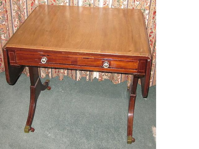 A 19th century mahogany sofa table