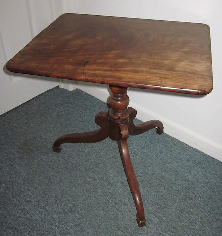 A mahogany wine table
