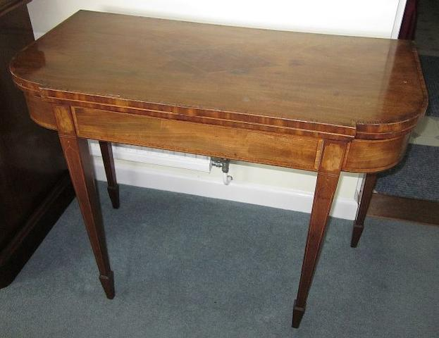 A Regency mahogany card table