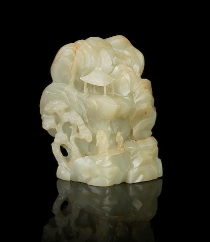 A green jade boulder 18th century