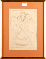 Untitled lithograph, 1944 signed in pencil